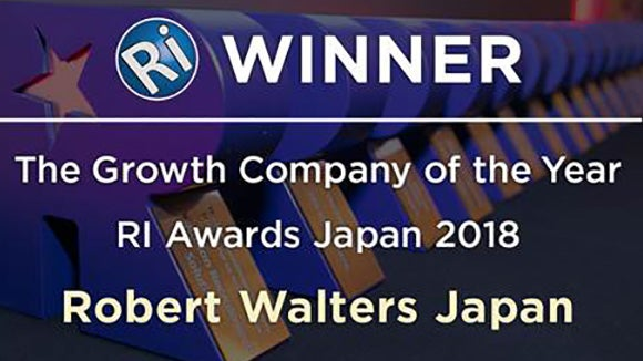 Robert Walters Japan named The Growth Company of the Year